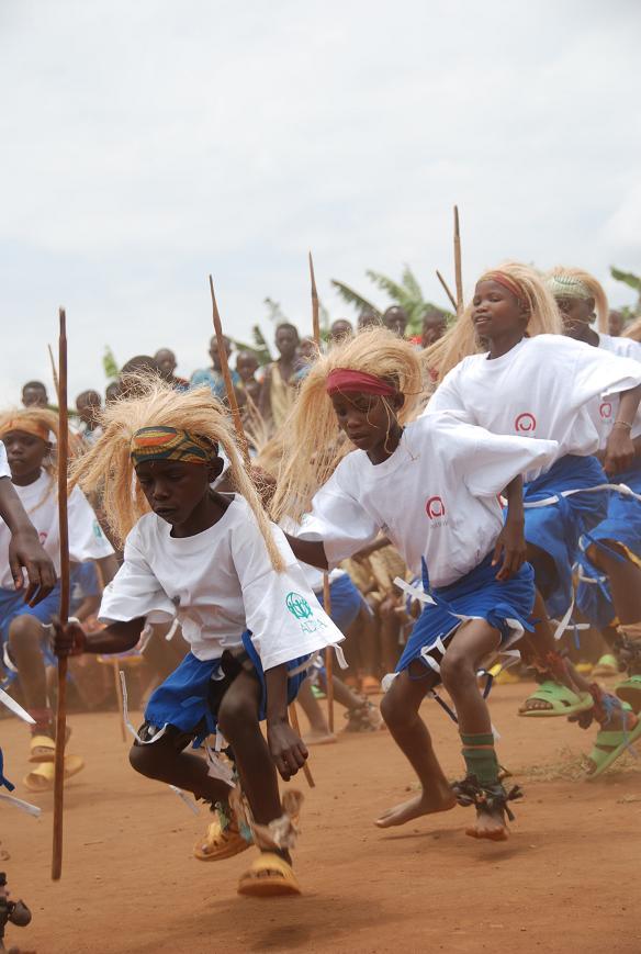 Rwanda: taniec zwycięstwa na zakończenie projektów