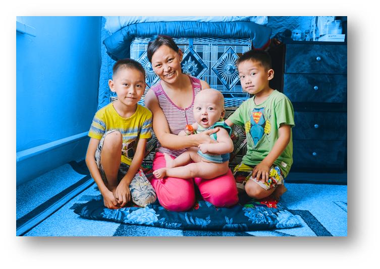 Kazakhstan rodzina