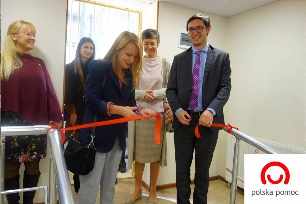 Ceremonia przekazania Centrum Rehabilitacji i Terapii w Tbilisi