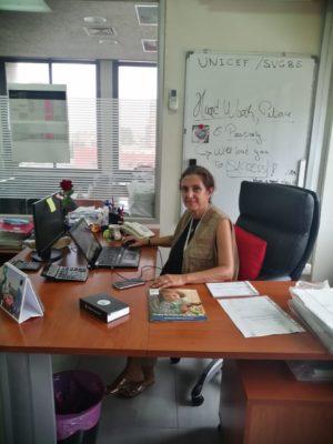 Eliane z fundacji ADRA Liban organizuje pomoc dla Bejrutu
