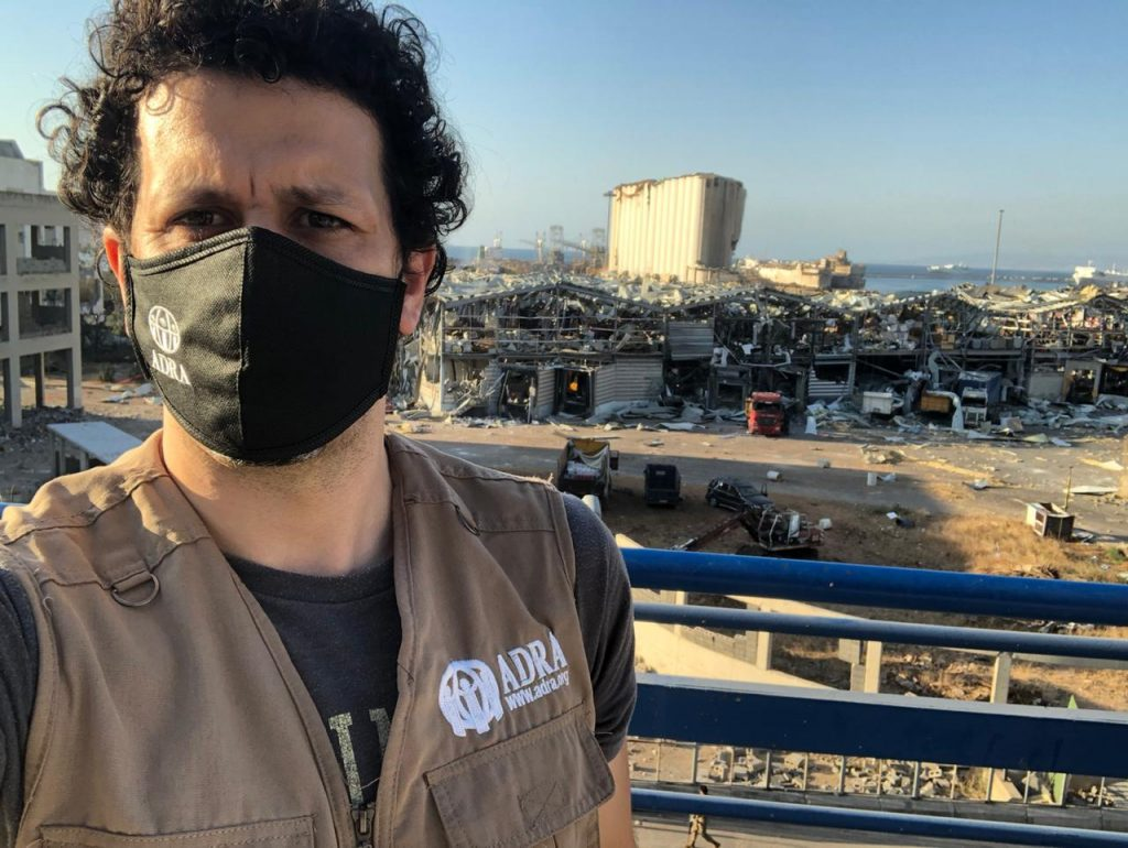 Wybuch w Bejrucie Wolontariusz fundacji ADRA zaangażowany w pomoc dla Bejrutu